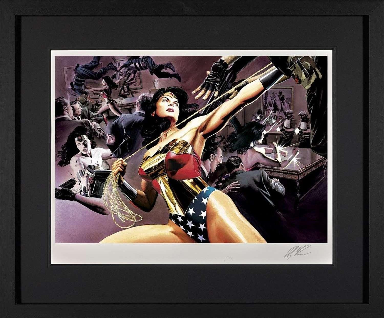 Wonder Woman: Defender Of Truth-DC Legends Framed Art Print by Alex