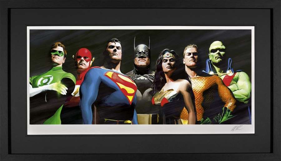 Original Seven - DC Legends Framed Art Print by Alex Ross
