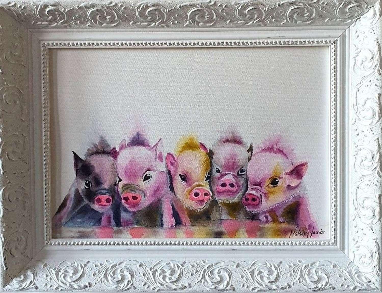 ''This Little Piggie'' - Original Watercolour By Melanie Jacobs