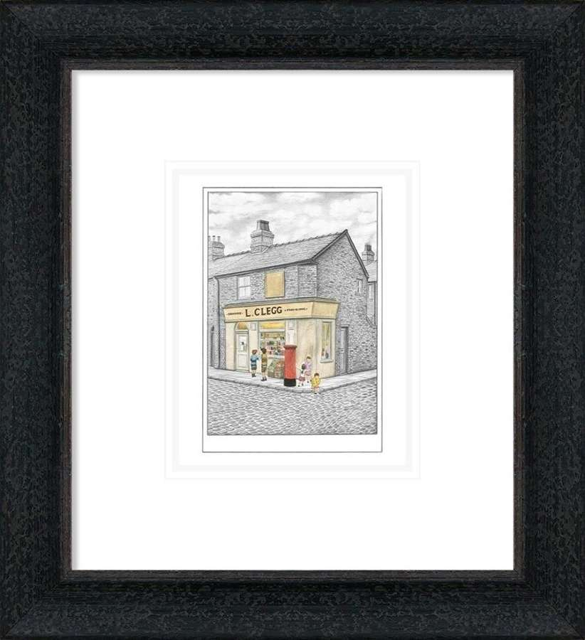 Our Kids Up Shops - Sketch - Framed Art Print By Leigh Lambert