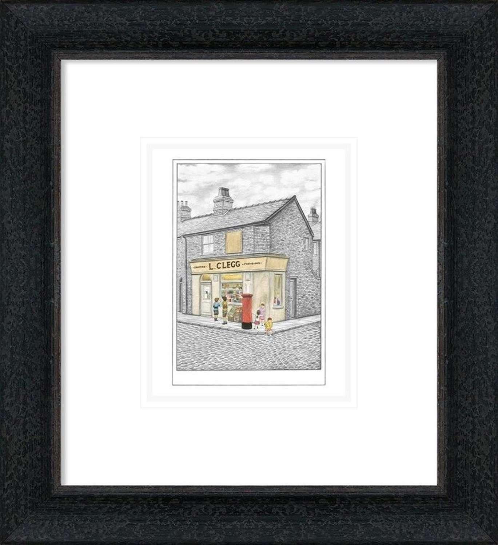 Our Kids Up Shops - Sketch - Framed Art Print By Leigh Lambert