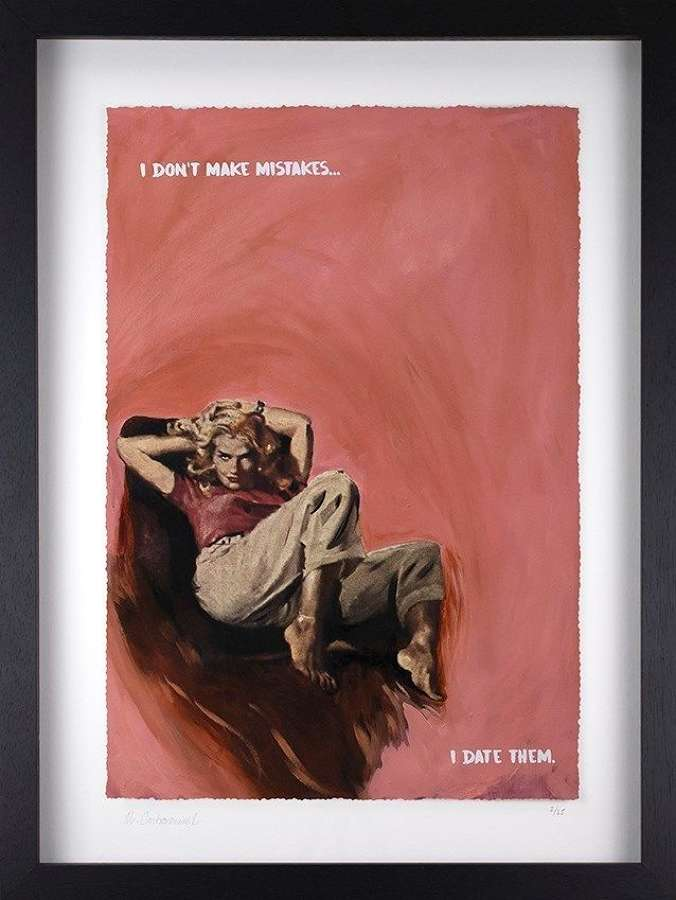I Don't Make Mistakes II Framed Art Print by Mr Controversial