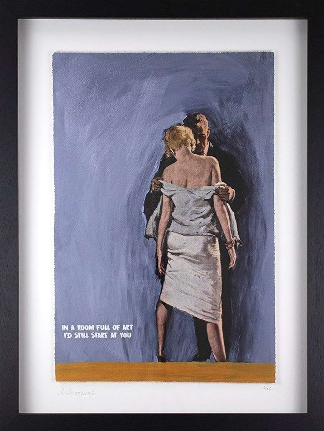In A Room Full Of Art - Framed Art Print by Mr Controversial