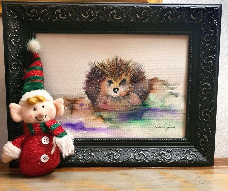 Brillo The Hog III - Original Watercolour By Melanie Jacobs