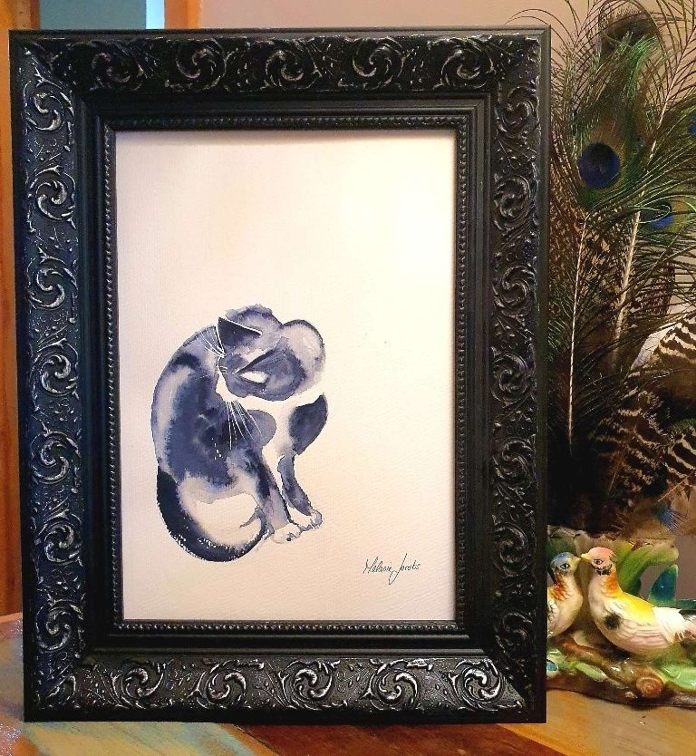 Suzu - Original Japanese Ink And Watercolour By Melanie Jacobs