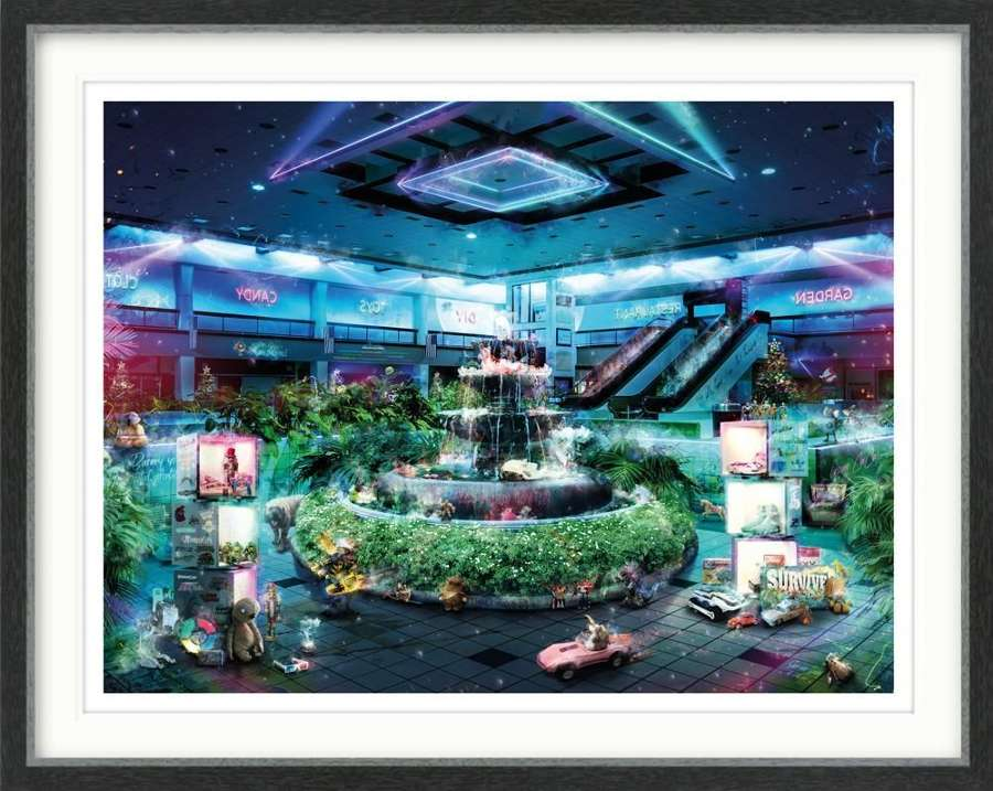 Midnight at the Mall - Gremlins - Framed Art Print by Mark Davies