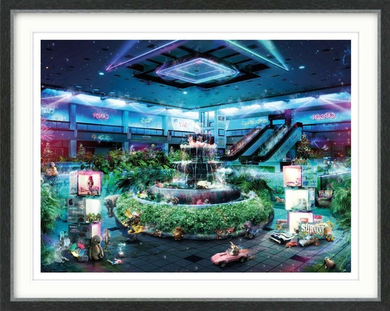 Midnight at the Mall - Gremlins - Framed Art Print by Mark Davies