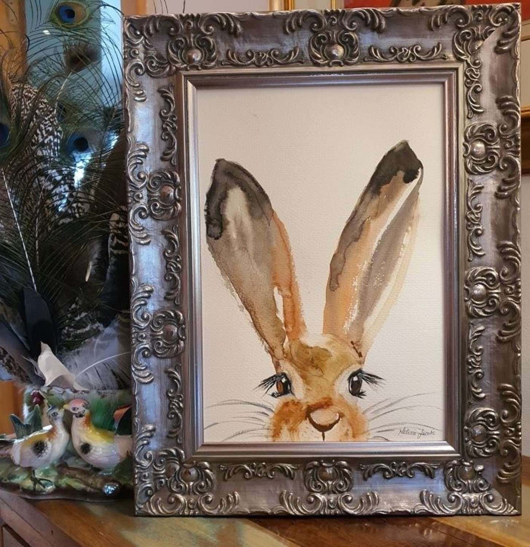 Faith The Hare - Original Japanese Ink By Melanie Jacobs