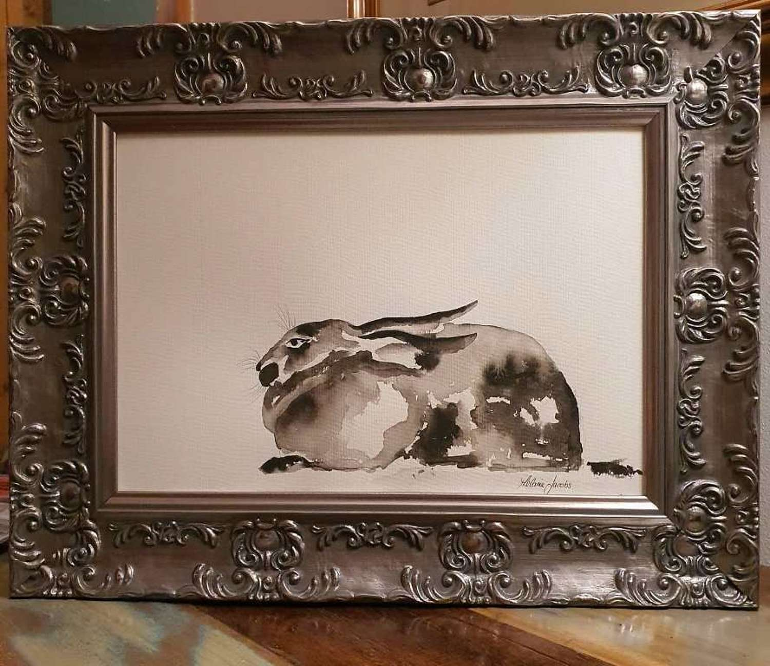 Orion The Hare - Original Japanese Ink By Melanie Jacobs