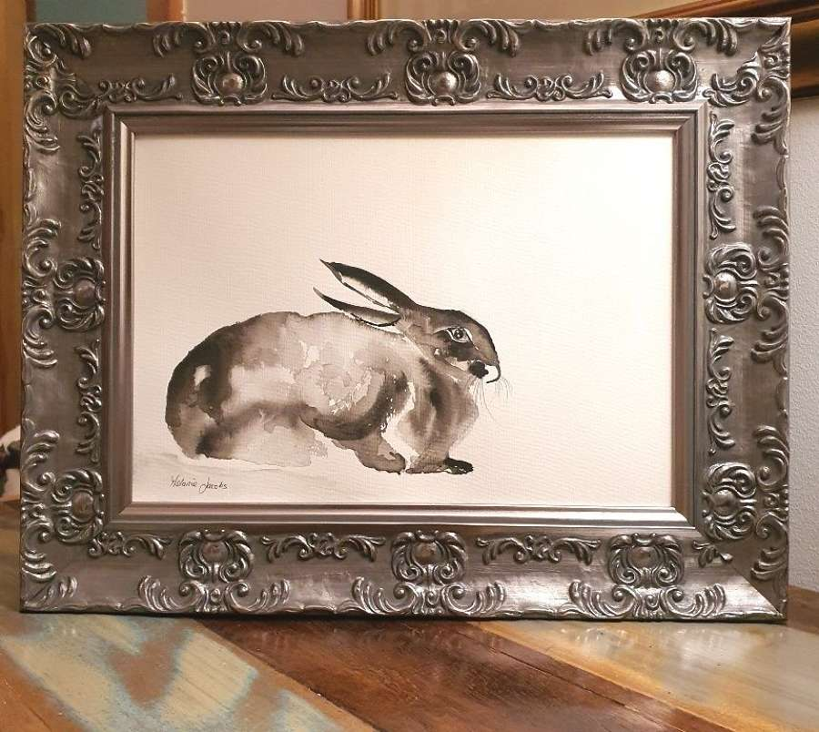 Astral The Hare - Original Japanese Ink By Melanie Jacobs