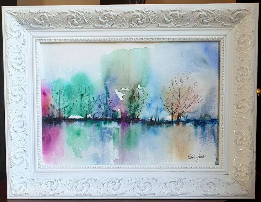 'Close Your Eyes And Breath' - Original Watercolour By Melanie Jacobs