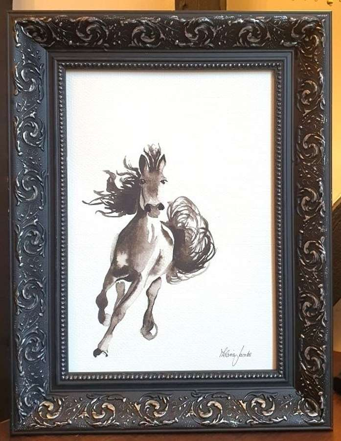 Adonis - Original Ink Painting By Melanie Jacobs