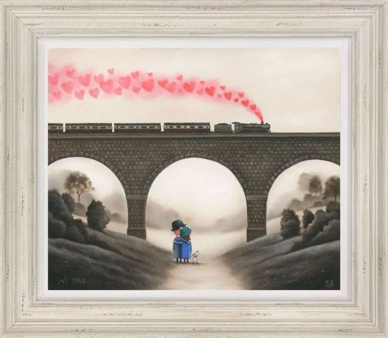 Love Train framed Art Print By Michael Abrams
