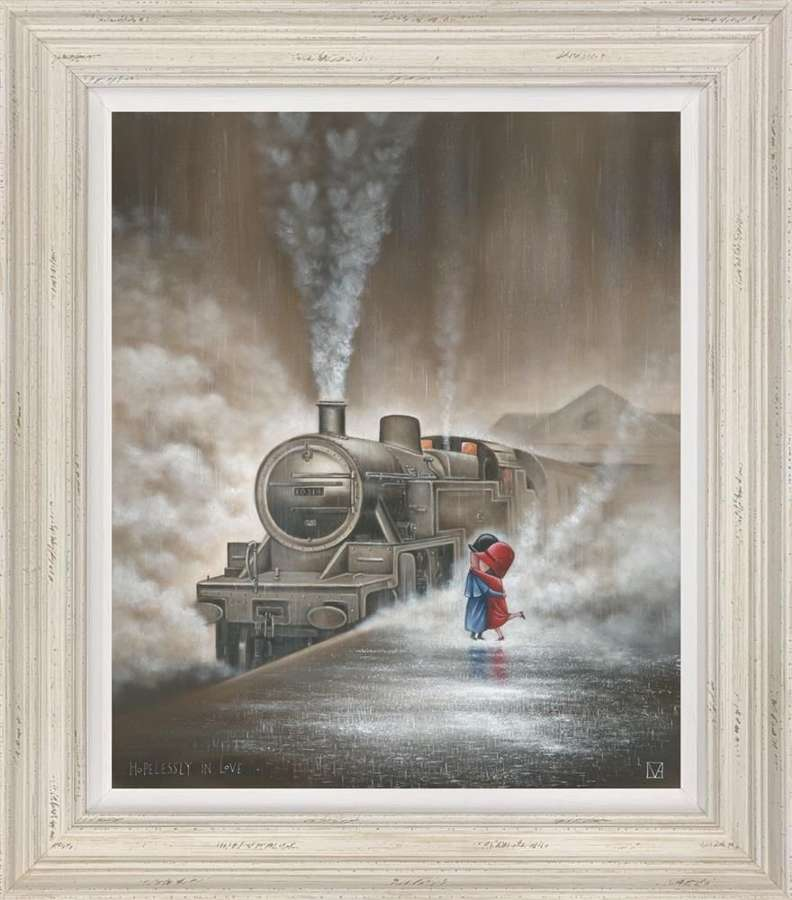 Hopelessly In Loved Framed Art Print By Michael Abrams