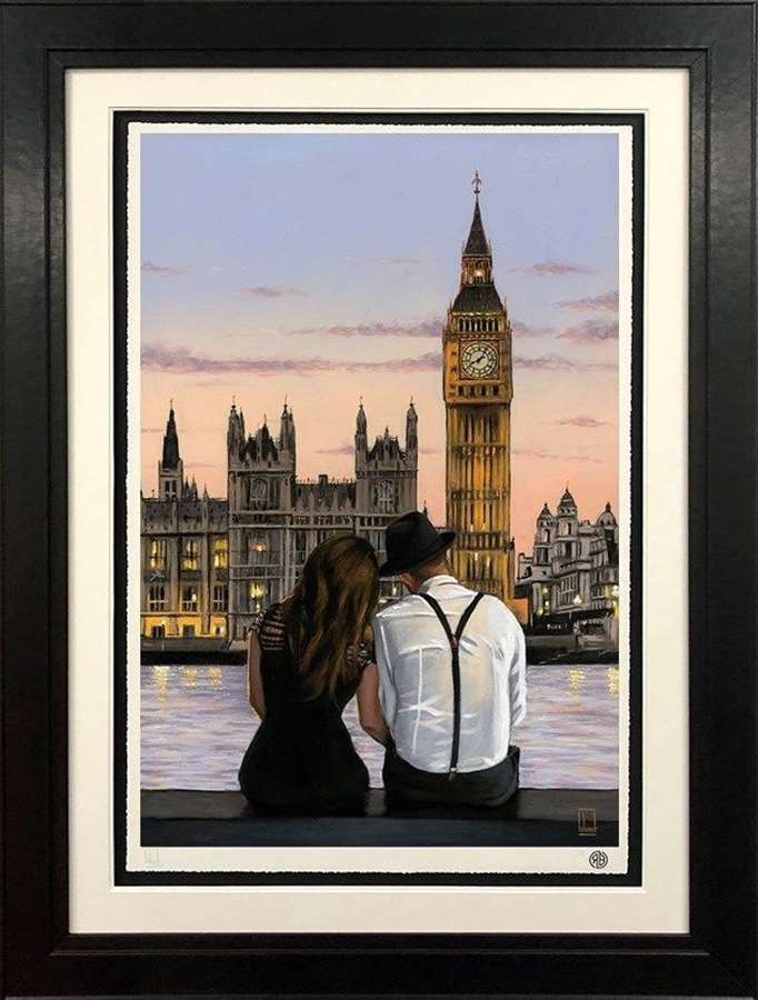 Westminster Sunset - Framed Art Print by Richard Blunt