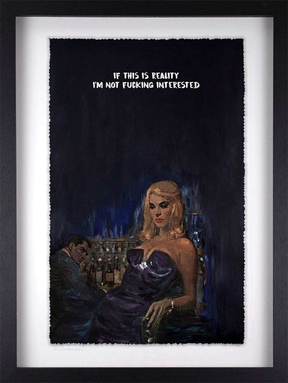 This is Reality - Framed Edition Art Print by Mr Controversial