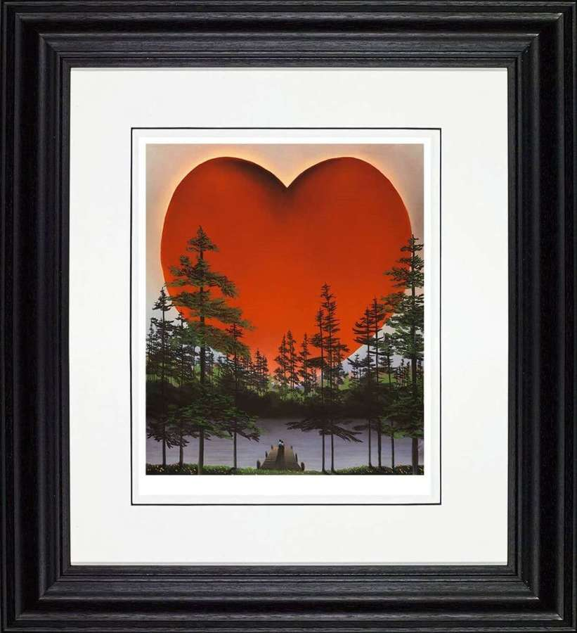 The Power of Love - Framed Art Print by Mackenzie Thorpe