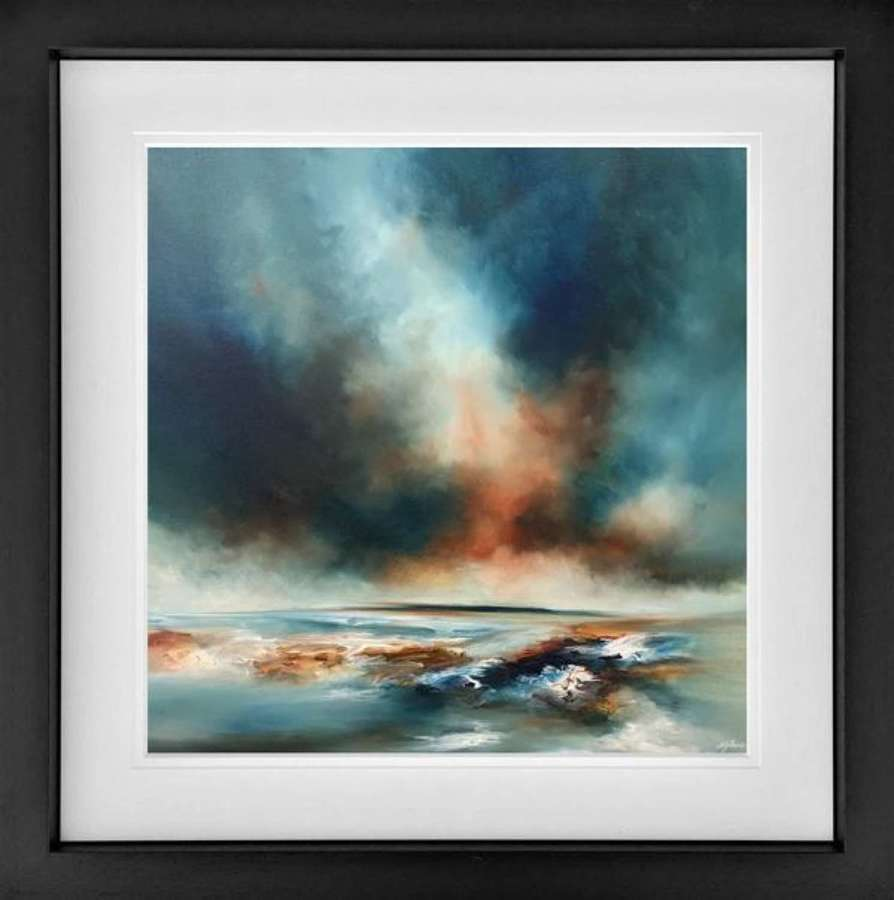 A Deep Breath - Framed Art Print By Alison Johnson