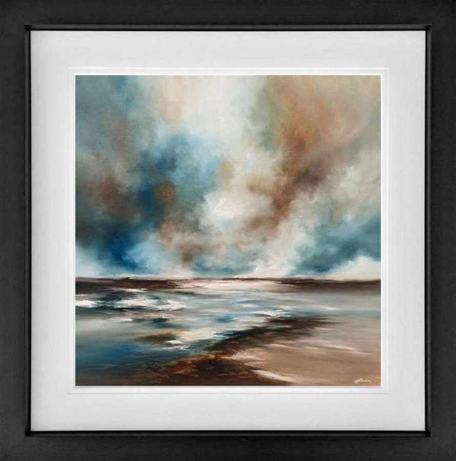Chasing Tides - Framed Art Print By Alison Johnson
