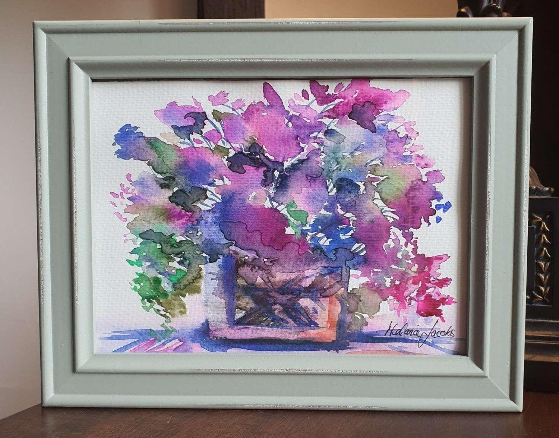 Flowers Are Loves Truest Language Original Art by Melanie Jacobs