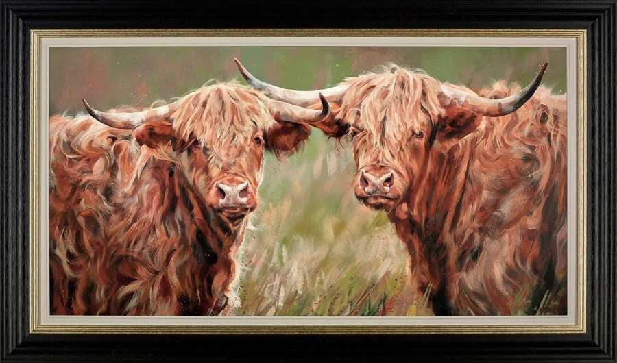Companions - Framed Art Print by Debbie Boon