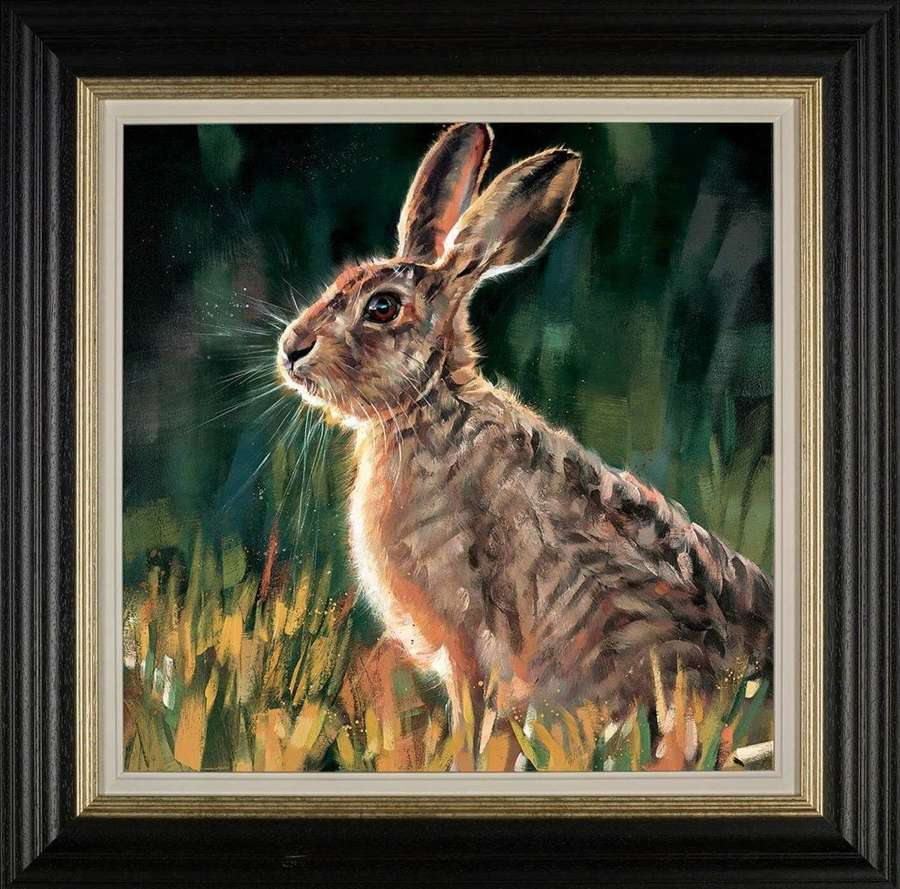 Watchful - Framed Art Print by Debbie Boon