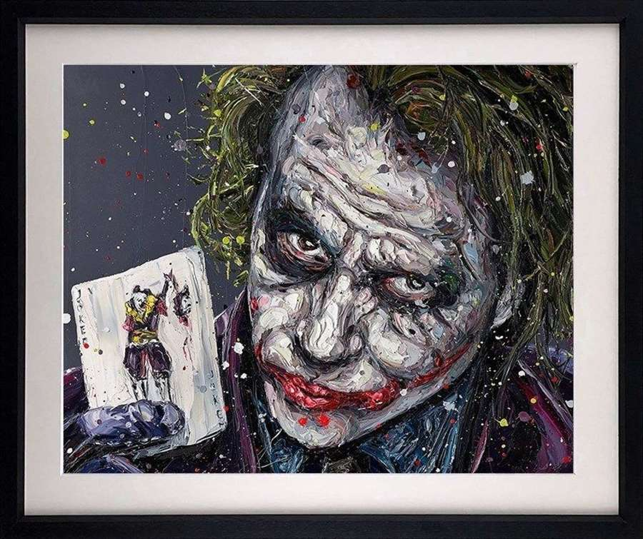 Playing the Joker - Framed Art Print by Paul Oz
