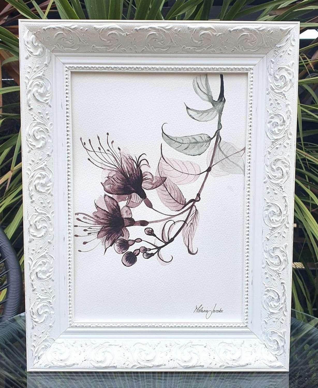 Hummingbird Fuschia - Original Watercolour Painting by Melanie Jacobs