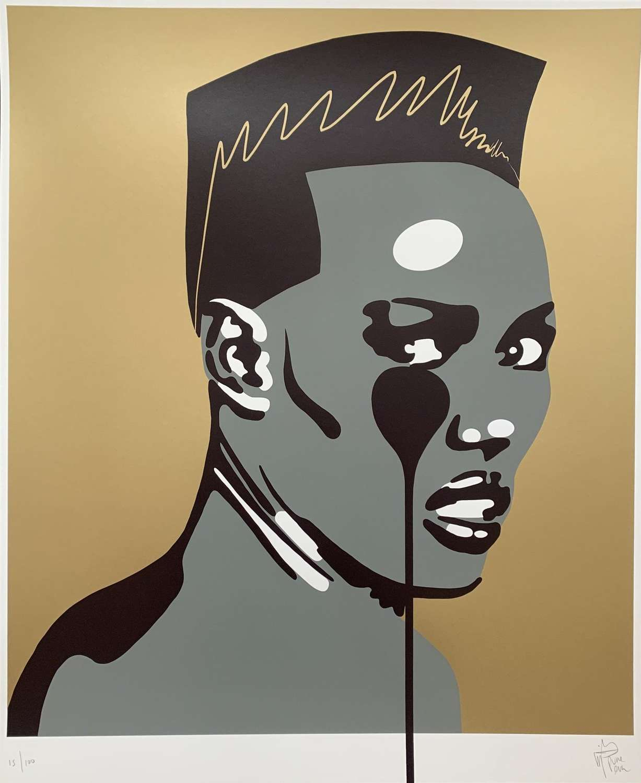 Ladies & Gentleman Miis Grace Jones Nightclubbing Art Print