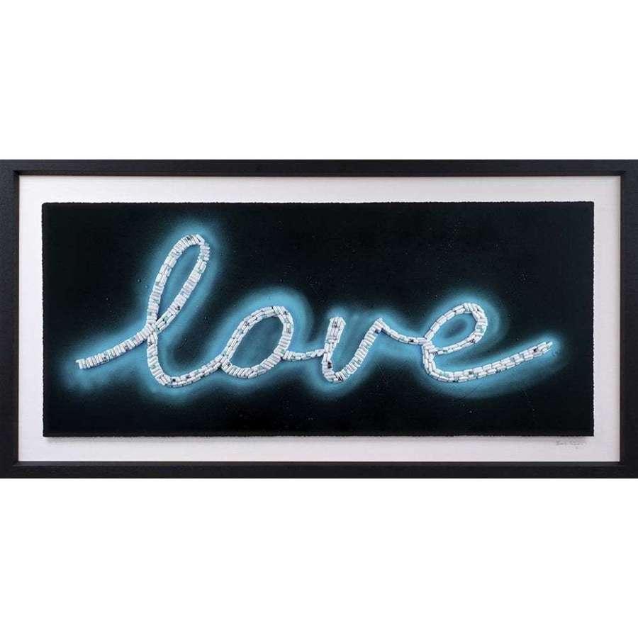 Blue Love Framed Art Print By Emma Gibbons