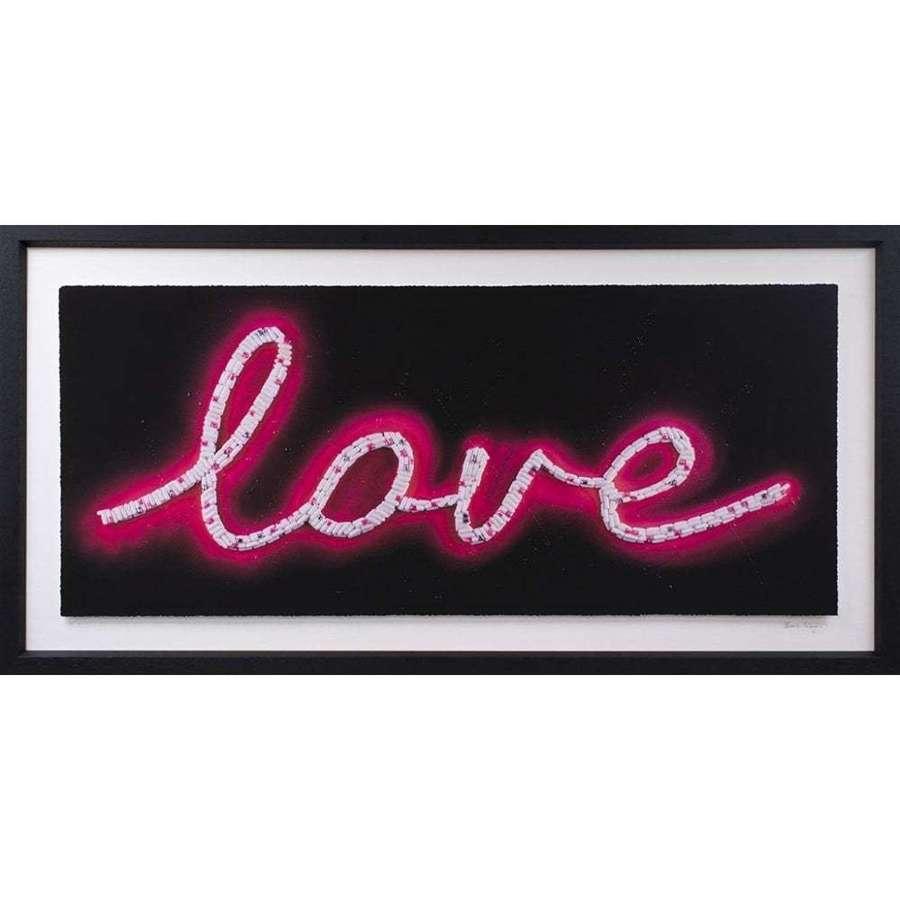 Pink Love Framed Art Print By Emma Gibbons