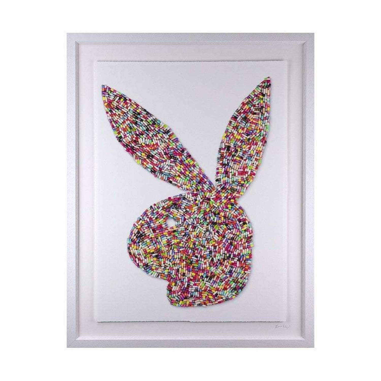Bad Bunny Framed Art Print By Emma Gibbons