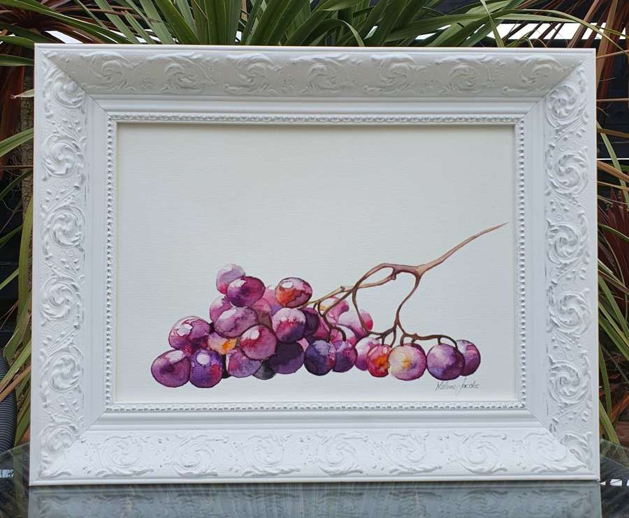 Grape Study - Original Watercolour Painting by Melanie Jacobs