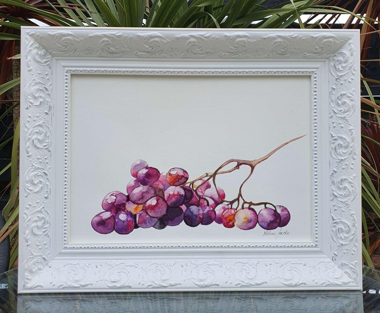 Grape Study - Original Watercolour Painting by Melanie Jacobs