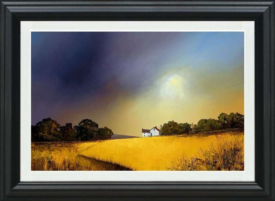 Sweeping Skies - Canvas Framed Art Print By Barry Hilton