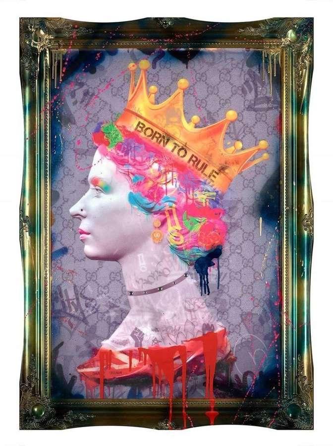 Born to Rule - Framed Art Print By Dan Pearce