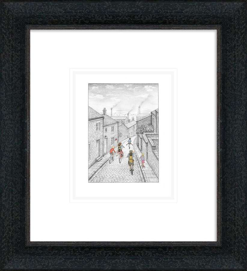 Here We Go Again - Framed Sketch By Leigh Lambert