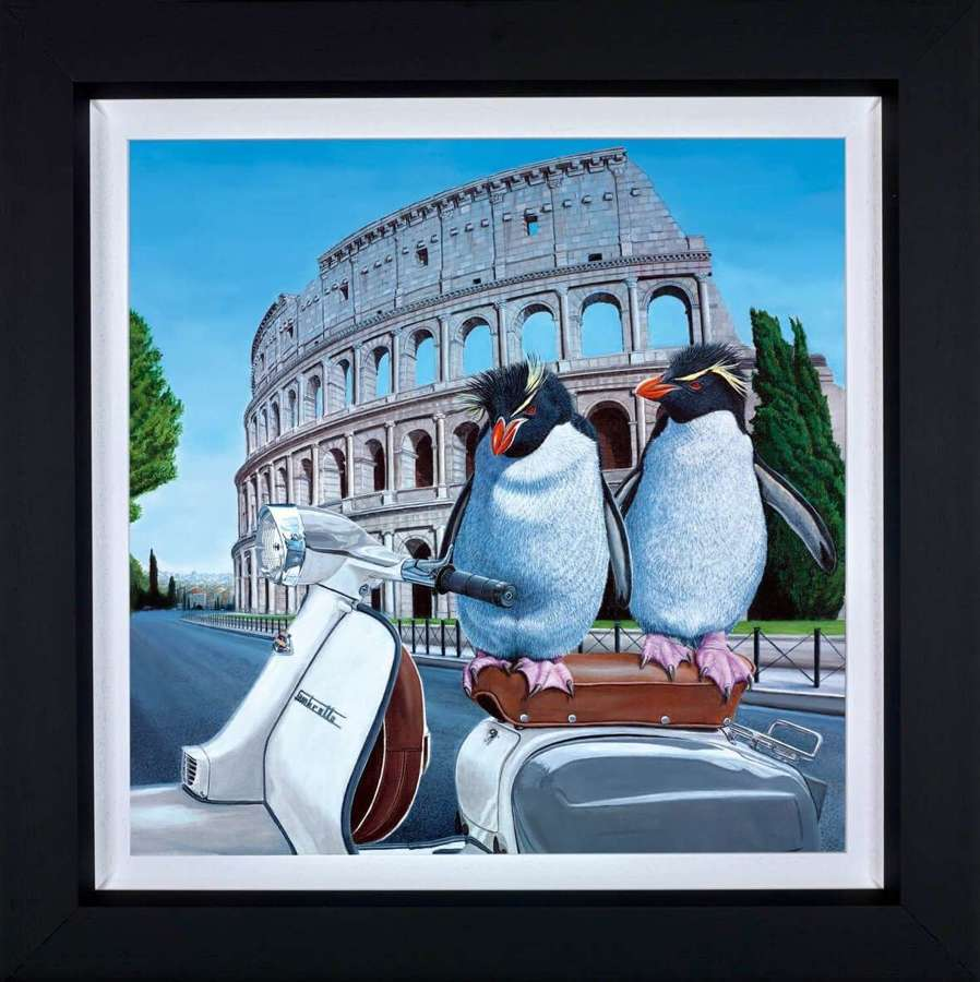 Roman Holiday - Framed Canvas Art Print By Steve Tandy