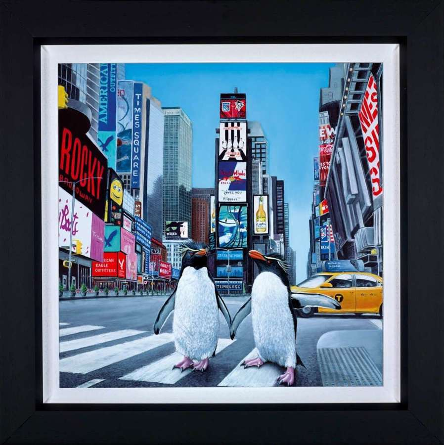 New York Times - Framed Canvas Art Print By Steve Tandy