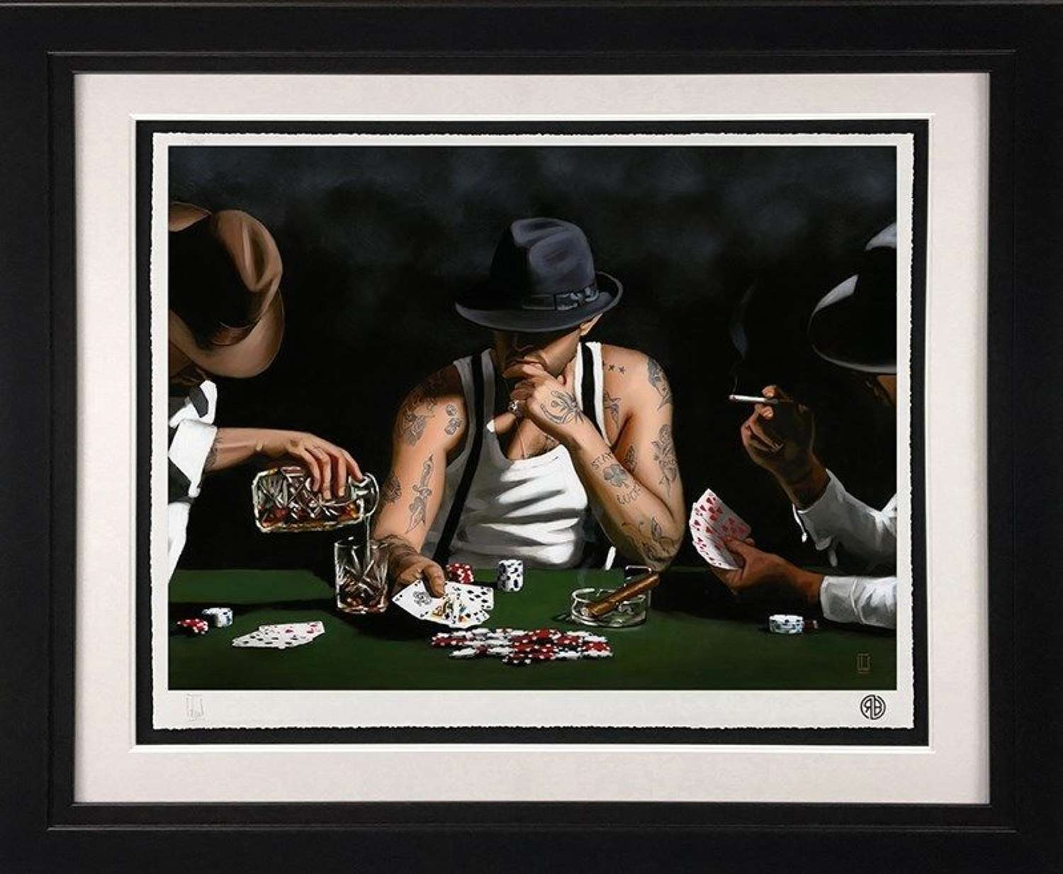 Stay Lucky - Framed Art Print by Richard Blunt