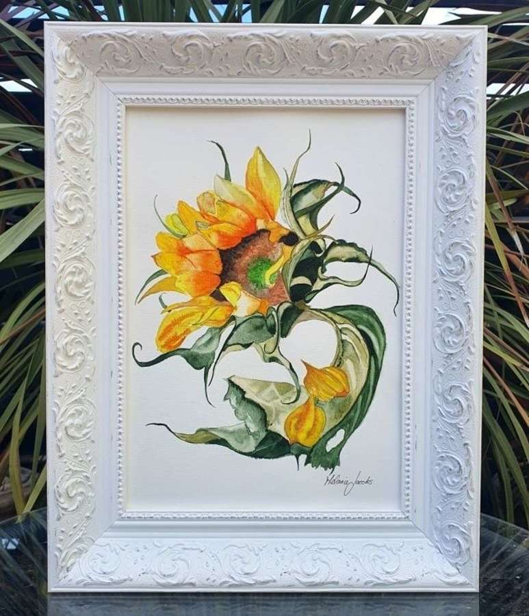Hey Gorgeous Sunflower - Original Painting by Melanie Jacobs