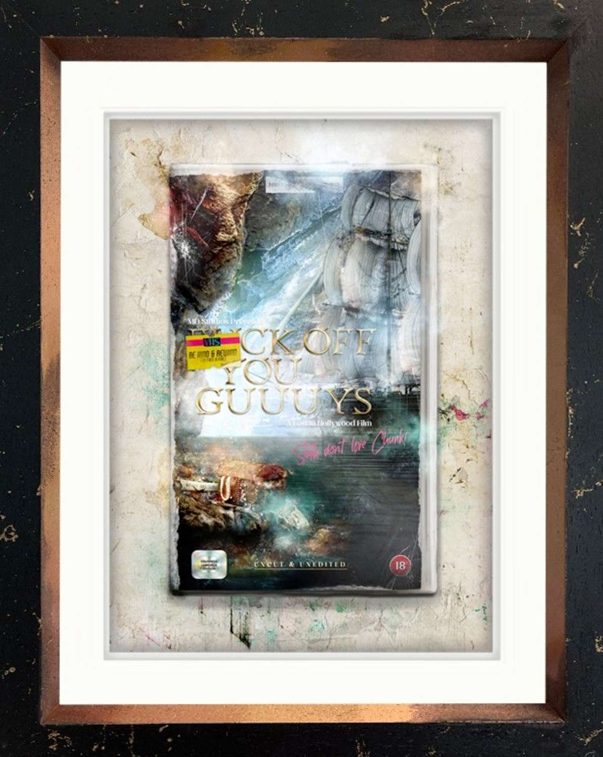 F*Ck Off You Guys! (The Goonies) - Framed Art Print By Mark Davies
