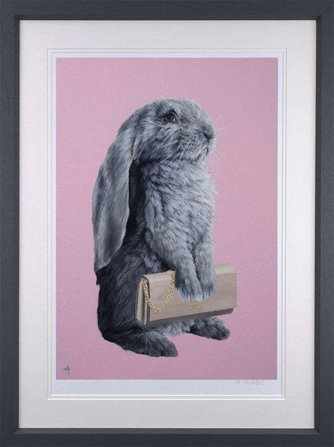 Bunny Girl - Prada  Framed Art Print by Dean Martin