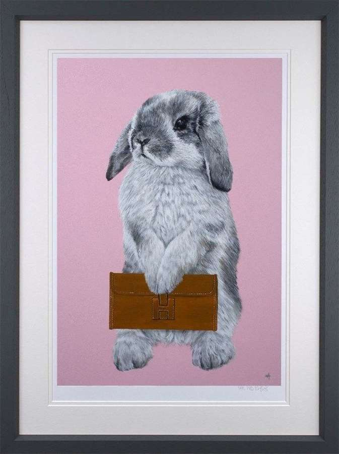 Bunny Girl - Hermes Framed Art Print by Dean Martin