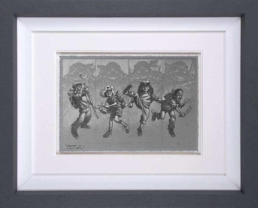 Heroes In A Half Shell (sketch) Framed Art Print by Craig Davison