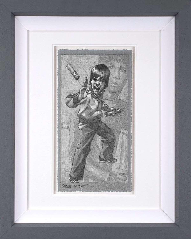 Game Of Daz (sketch) Framed Art Print by Craig Davison