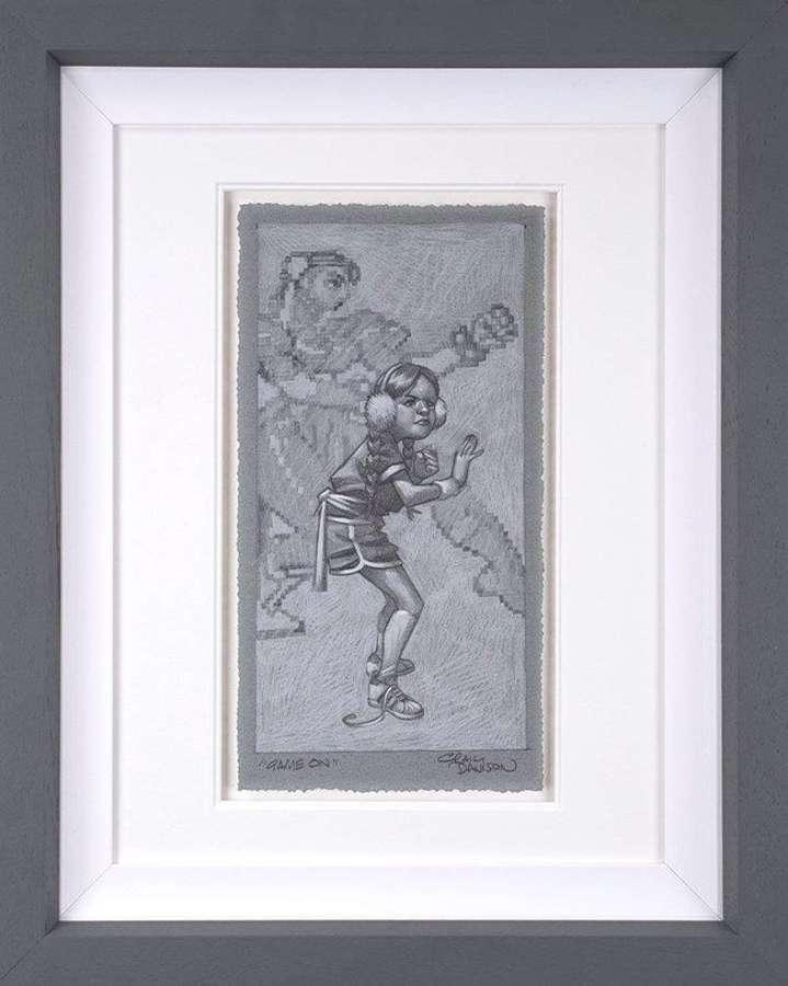 Game On - (sketch) Framed Art Print by Craig Davison