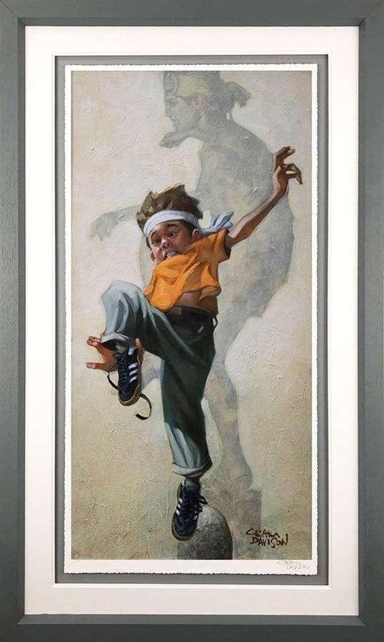 Wax On - Wax Off Framed Art Print by Craig Davison