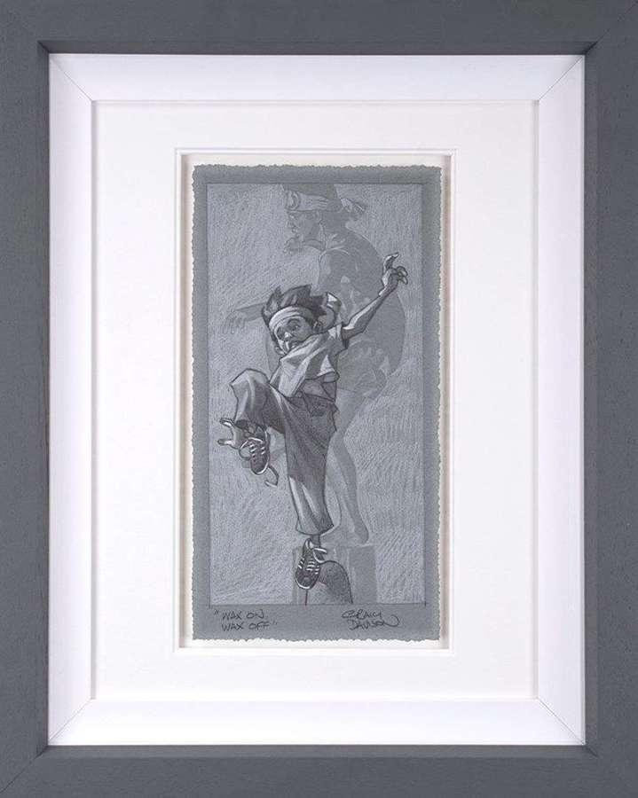 Wax On - Wax Off - (sketch) Framed Art Print by Craig Davison