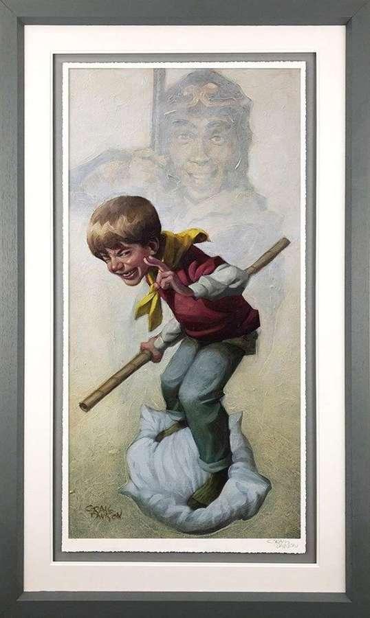 Monkey Framed Art Print by Craig Davison